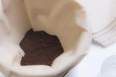 Кофейная чашка потека Стоковые Фото