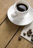 кофейная чашка предпосылки деревянная Стоковые Изображения