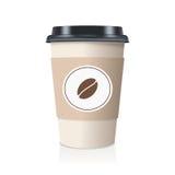 Кофейная чашка реалистического взятия отсутствующая бумажная также вектор иллюстрации притяжки corel Стоковое Изображение RF