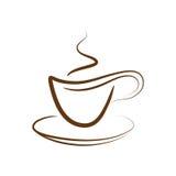 кофейная чашка с вектора Стоковая Фотография RF