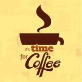 Кофейная чашка с литерностью Стоковое Изображение