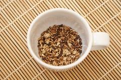 Кофейная чашка с рисом решетки стоковые изображения
