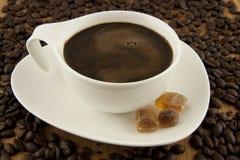 Кофейная чашка с сахаром Стоковые Изображения