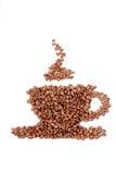 кофейная чашка фасолей сделанная вне Стоковая Фотография