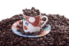 кофейная чашка фасолей Стоковое Фото