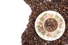 кофейная чашка фасолей Стоковые Изображения