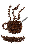 кофейная чашка фасолей сделала форму Стоковые Фото