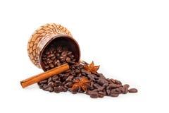 кофейная чашка циннамона Стоковое Фото