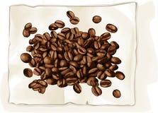 Кофейное зерно на книге Стоковое фото RF
