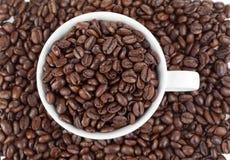 кофейной чашки белизна польностью малая Стоковая Фотография
