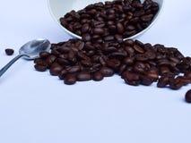 Кофейные зерна в белом шаре изолированном на белизне Стоковые Изображения RF