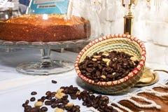 Кофейные зерна в корзине Стоковое фото RF