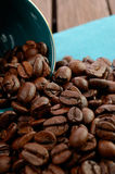 Кофейные зерна в кофейной чашке стоковое изображение rf