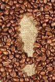 Кофейные зерна в форме восклицательного знака Стоковые Фото