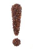 Кофейные зерна в форме восклицательного знака Стоковые Фотографии RF