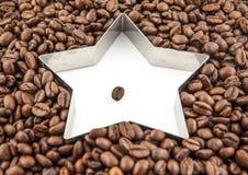 Кофейные зерна звезды Стоковое фото RF
