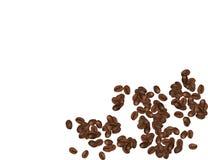 Кофейные зерна изолированные в белой предпосылке также вектор иллюстрации притяжки corel Иллюстрация штока