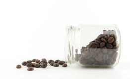 Кофейные зерна изолированные в белой предпосылке Стоковая Фотография RF