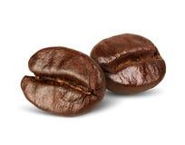 Кофейные зерна изолированные на белизне, путь макроса 2 Стоковая Фотография RF