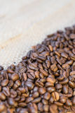 Кофейные зерна и космос экземпляра Стоковое Изображение RF