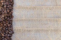 Кофейные зерна и космос экземпляра Стоковая Фотография