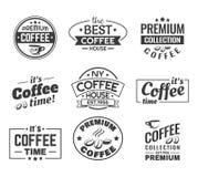 Кофейные зерна как логотип, знак для магазина или магазин иллюстрация штока