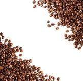 Кофейные зерна предпосылка или крупный план текстуры. Принципиальная схема кофе. Стоковая Фотография RF