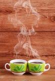 кофейные чашки испаряясь 2 Стоковые Фото