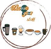 Кофейные чашки, который нужно выбрать Стоковая Фотография RF