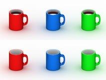 кофейные чашки опорожняют Стоковые Фото