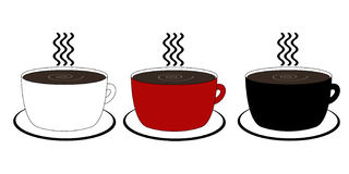 кофейные чашки 3 Стоковая Фотография RF