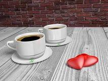 кофейные чашки 2 Стоковые Фото