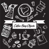 Кофейня возражает линию b Стоковые Изображения RF