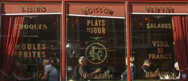 Кофейня в Йорке, Великобритании Стоковая Фотография RF