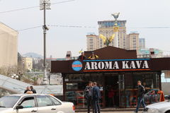 Кофейня на Khreshchatyk стоковые изображения