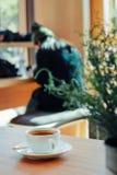 Кофейня просторной квартиры Стоковое фото RF