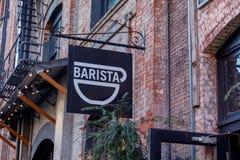 Кофейня Barista в районе жемчуга Портленда Стоковая Фотография RF