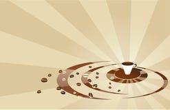 кофе бежа предпосылки Стоковое Изображение