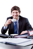 Кофе бизнесмена выпивая Стоковое Изображение RF