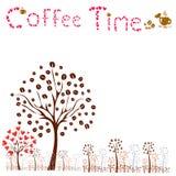 кофе больше времени концепция кофе вектора Стоковые Изображения RF