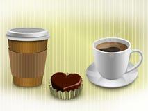 кофе больше времени иллюстрация штока
