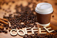 Кофе бумажного стаканчика Стоковые Изображения RF