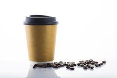 Кофе бумажного стаканчика Стоковые Фотографии RF