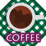 Кофе вектора иллюстрации графический Стоковая Фотография