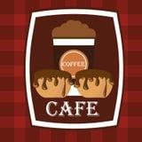 Кофе вектора иллюстрации графический Стоковые Изображения