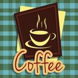 Кофе вектора иллюстрации графический Стоковые Фото