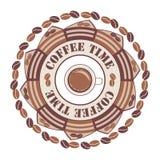 Кофе времени орнамент кругом бесплатная иллюстрация