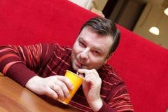 кофе выпивает человека Стоковое фото RF