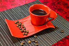 Кофе в красной чашке Стоковые Фото