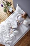 Кофе в кровати Стоковое фото RF